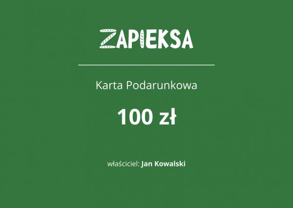 Karta Podarunkowa Zapieksy - 100zł